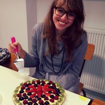 Ilaria et le Gaia-gâteau